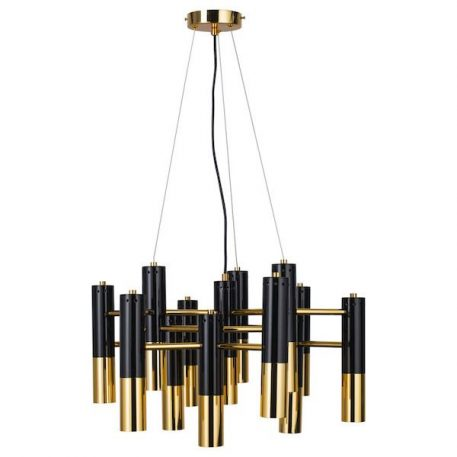 Żyrandol Golden Pipe do salonu