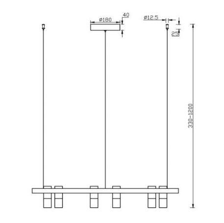 Żyrandol - MOD102PL-L42W