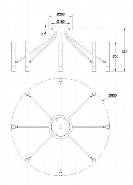Żyrandol - MOD620CL-16B