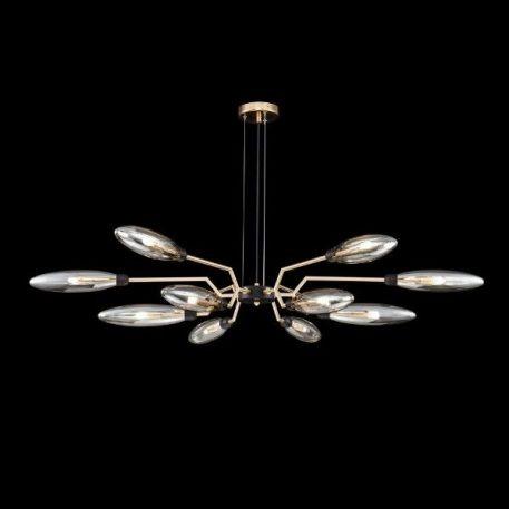 Żyrandol Styl nowoczesny beżowy, transparentny, złoty  - Salon