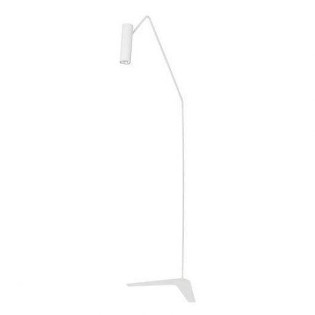 Biała lampa podłogowa Eye Super – nowoczesna