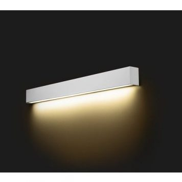Biały kinkiet Straight M – świetlówka