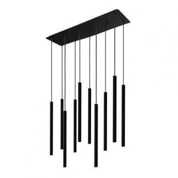 Czarna lampa wisząca Laser – długie klosze, nowoczesna