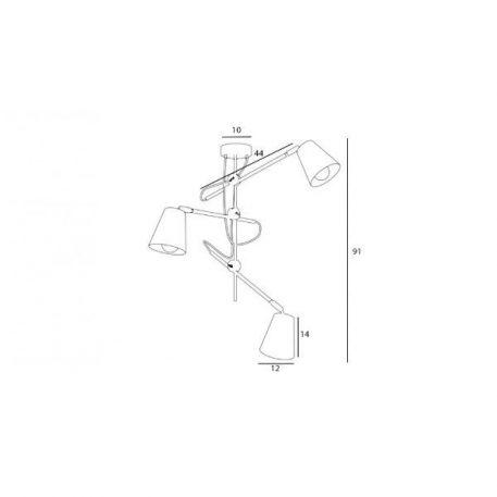 Designerska lampa wisząca Arte – regulowane klosze
