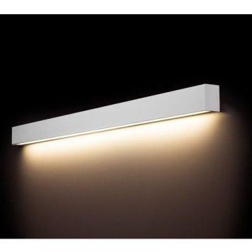 Długi kinkiet Straight L – biały, LED