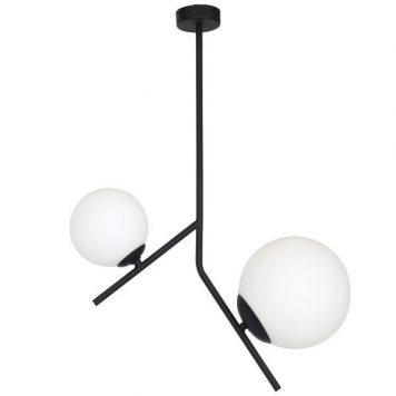 Podwójna lampa wisząca Luna – szklane klosze