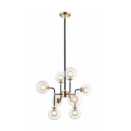 Riano Lampa wisząca – industrialny – kolor transparentny, złoty, Czarny
