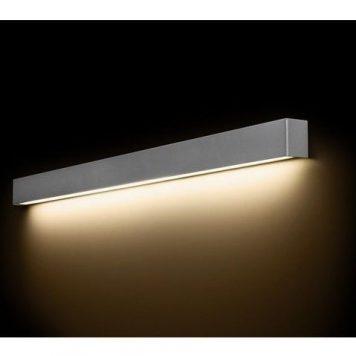 Srebrny kinkiet Straight L – na świetlówkę