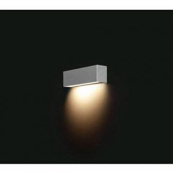 Srebrny kinkiet Straight XS – metalowy