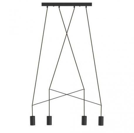 Czarna lampa wisząca Imbria – nowoczesna