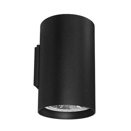 Czarny kinkiet Tube – 2 źródła światła, metalowy