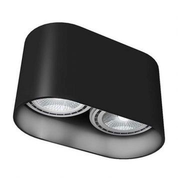 Duże oczko stropowe Oval – czarna oprawa
