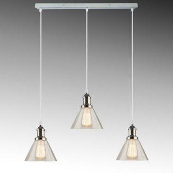 New York Lampa wisząca – industrialny – kolor srebrny, transparentny