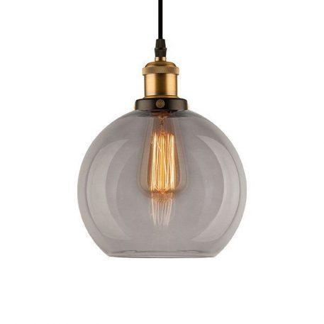 New York Lampa wisząca – szklane – kolor mosiądz, Szary