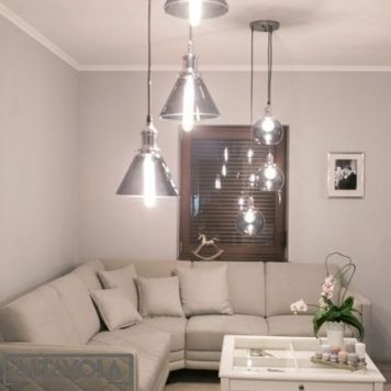 New York Lampa wisząca – szklane – kolor srebrny, transparentny