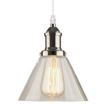 New York Loft Lampa wisząca – industrialny – kolor srebrny, transparentny