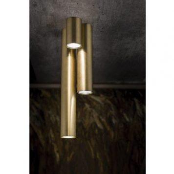 Nowoczesna lampa sufitowa Eye M – złota tuba