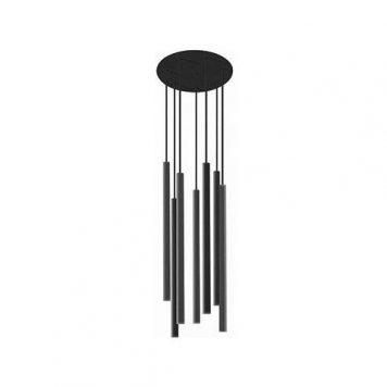 kaskadowa lampa wisząca czarne tuby