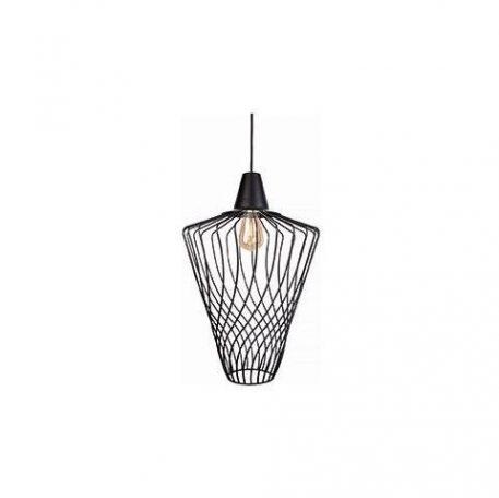 Oryginalna lampa wisząca Wave – czarny, druciany klosz