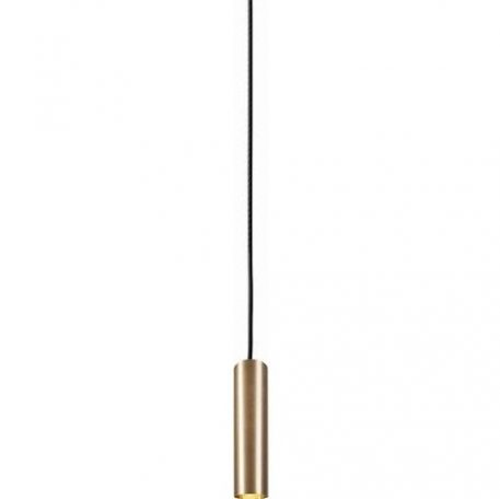 złota lampa wisząca tuba nowoczesna