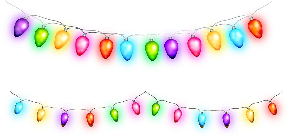 girlanda świetlna z kolorowych żarówek - święta